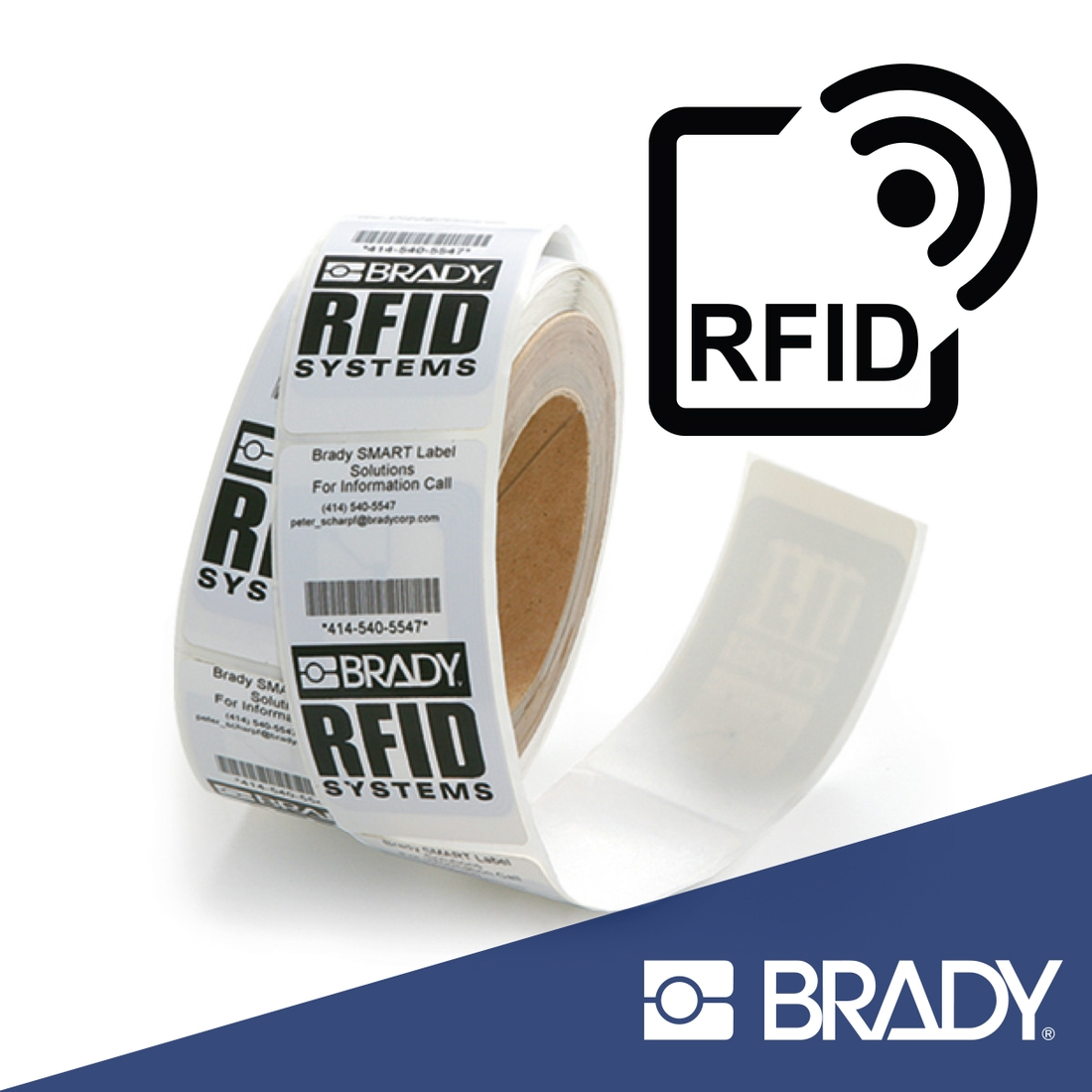 Brady RFID Label Roll square